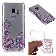 Недорогие Чехлы и кейсы для Galaxy S9 Plus-Кейс для Назначение SSamsung Galaxy S9 Plus / S9 IMD / Прозрачный / С узором Кейс на заднюю панель Цветы Мягкий ТПУ для S9 / S9 Plus / S8 Plus
