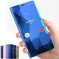 Недорогие Чехлы и кейсы для Galaxy Note-Кейс для Назначение SSamsung Galaxy Note 9 / Note 8 со стендом / Зеркальная поверхность / Флип Чехол Однотонный Твердый ПК для Note 9 / Note 8 / Note 5