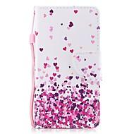 Недорогие Кейсы для iPhone 8 Plus-Кейс для Назначение Apple iPhone 8 Plus / iPhone 7 Plus Кошелек / Бумажник для карт / Флип Чехол С сердцем Твердый Кожа PU для iPhone 8 Pluss / iPhone 7 Plus