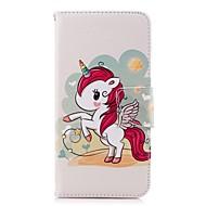 Недорогие Чехлы и кейсы для Galaxy А-Кейс для Назначение SSamsung Galaxy A8 Plus 2018 / A6+ (2018) Кошелек / Бумажник для карт / со стендом Чехол единорогом Твердый Кожа PU для A5(2018) / A6 (2018) / A6+ (2018)