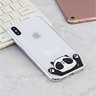 Недорогие Кейсы для iPhone 8-Кейс для Назначение Apple iPhone X / iPhone 8 Plus С узором Кейс на заднюю панель Панда Мягкий ТПУ для iPhone X / iPhone 8 Pluss / iPhone 8