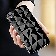 Etui Til Apple iPhone X / iPhone 8 Transparent Bagcover Geometrisk mønster Blødt TPU for iPhone X / iPhone 8 Plus / iPhone 8