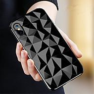 Недорогие Кейсы для iPhone 8-Кейс для Назначение Apple iPhone X / iPhone 8 Прозрачный Кейс на заднюю панель Геометрический рисунок Мягкий ТПУ для iPhone X / iPhone 8 Pluss / iPhone 8