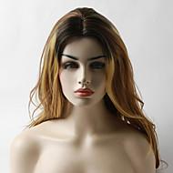 お買い得  -人工毛ウィッグ ウェーブ オンブル' レイヤード・ヘアカット 合成 耐熱 オンブル' かつら 女性用 ロング キャップレス Brown