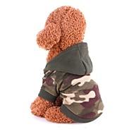 abordables -Rongeurs / Chiens / Chats Manteaux / Pull / Combinaison-pantalon Vêtements pour Chien Classique Couleur camouflage Polaire Costume Pour les animaux domestiques Femme Sports & Activités d'Extérieur