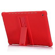お買い得  タブレット用アクセサリー-ケース 用途 Huawei MediaPad MediaPad M5 10 耐衝撃 / スタンド付き バックカバー ソリッド ソフト シリコーン のために MediaPad M5 10