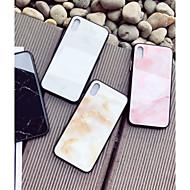 Недорогие Кейсы для iPhone 8-Кейс для Назначение Apple iPhone X / iPhone 8 С узором Кейс на заднюю панель Мрамор Твердый Закаленное стекло для iPhone X / iPhone 8 Pluss / iPhone 8