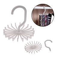 abordables Organización de encimera y pared-asas ajustables 20 colgador de corbata cinturón rotante bufanda organizador hombres