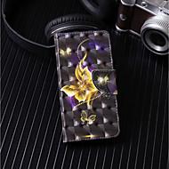 Недорогие Чехлы и кейсы для Galaxy A3(2017)-Кейс для Назначение SSamsung Galaxy A6+ (2018) / A6 (2018) Кошелек / Бумажник для карт / со стендом Чехол Бабочка Твердый Кожа PU для A6 (2018) / A6+ (2018) / A3 (2017)