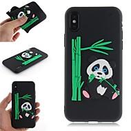 Недорогие Кейсы для iPhone 8 Plus-Кейс для Назначение Apple iPhone X / iPhone 8 С узором Кейс на заднюю панель 3D в мультяшном стиле / Панда Мягкий ТПУ для iPhone X / iPhone 8 Pluss / iPhone 8