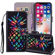 Недорогие Кейсы для iPhone 8-Кейс для Назначение Apple iPhone X / iPhone 8 Plus Кошелек / Бумажник для карт / со стендом Чехол Фрукты Твердый Кожа PU для iPhone X / iPhone 8 Pluss / iPhone 8