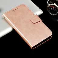 Недорогие Чехлы и кейсы для Galaxy A5(2016)-Кейс для Назначение SSamsung Galaxy A8 Plus 2018 / A8 2018 Кошелек / Бумажник для карт / Флип Чехол Однотонный Твердый Кожа PU для A3 (2017) / A5 (2017) / A8 2018