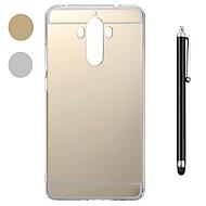 お買い得  携帯電話ケース-ケース 用途 Huawei Mate 10 / Mate 9 耐衝撃 / メッキ仕上げ / ミラー バックカバー ソリッド ソフト プラスチック / メタル のために Mate 10 / Mate 10 pro / Huawei Mate 7