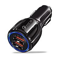 preiswerte iPod-Ladegeräte-Auto-Ladegerät USB-Ladegerät USB QC 3.0 2 USB Anschlüsse 3.1 A DC 12V-24V für iPhone X / iPhone 8 Plus / iPhone 8
