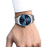 cheap -Men's Dress Watch / Wrist Watch Calendar / date / day / Chronograph / Creative Stainless Steel Band Luxury / Elegant Black / White / Gold