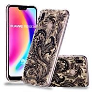 preiswerte Handyhüllen-Hülle Für Huawei P20 / P20 lite Transparent / Muster Rückseite Lace Printing / Feder Weich TPU für Huawei P20 / Huawei P20 Pro / Huawei P20 lite