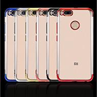 お買い得  携帯電話ケース-ケース 用途 Xiaomi Mi 8 / Mi 8 Explorer メッキ仕上げ / クリア バックカバー ソリッド ソフト TPU のために Xiaomi Redmi Note 5 Pro / Xiaomi Redmi Note 4X / Xiaomi Redmi Note 4