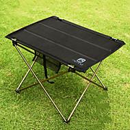 abordables Accesorios para Acampada y Senderismo-Mesa para camping Al aire libre Portátil, Ligeras, Plegable Aluminio para Pesca / Senderismo / Playa Negro