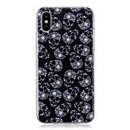 Недорогие Кейсы для iPhone 8-Кейс для Назначение Apple iPhone X / iPhone 8 Plus Ультратонкий / С узором Кейс на заднюю панель Черепа Мягкий ТПУ для iPhone X / iPhone 8 Pluss / iPhone 8