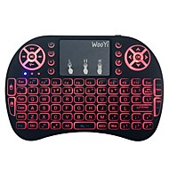 preiswerte Tastaturen-Factory OEM 2.4G Multi farbige Hintergrundbeleuchtung 92 pcs Office Keyboard Farbverläufe Batteriebetrieben angetrieben