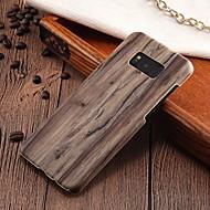 Недорогие Чехлы и кейсы для Galaxy S8 Plus-Кейс для Назначение SSamsung Galaxy S8 Plus / S8 Ультратонкий Кейс на заднюю панель Имитация дерева Твердый ПК для S8 Plus / S8 / S7 edge
