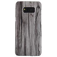 Недорогие Чехлы и кейсы для Galaxy S6 Edge Plus-Кейс для Назначение SSamsung Galaxy S8 Plus / S8 Ультратонкий Кейс на заднюю панель Имитация дерева Твердый ПК для S8 Plus / S8 / S7 edge