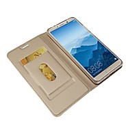 お買い得  携帯電話ケース-ケース 用途 Huawei Mate 10 pro / Mate 10 ウォレット / カードホルダー / スタンド付き フルボディーケース ソリッド ハード PUレザー のために Mate 10 / Mate 10 pro / Mate 10 lite