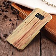 Недорогие Чехлы и кейсы для Galaxy S8-Кейс для Назначение SSamsung Galaxy S8 Plus / S8 Ультратонкий Кейс на заднюю панель Имитация дерева Твердый ПК для S8 Plus / S8 / S7 edge