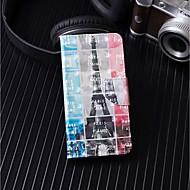 Недорогие Кейсы для iPhone 8-Кейс для Назначение Apple iPhone X / iPhone 8 Plus Кошелек / Бумажник для карт / со стендом Чехол Эйфелева башня Твердый Кожа PU для iPhone X / iPhone 8 Pluss / iPhone 8