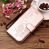Недорогие Чехлы и кейсы для Galaxy S8-Кейс для Назначение SSamsung Galaxy S9 Plus / S9 Кошелек / Бумажник для карт / со стендом Чехол одуванчик Твердый Кожа PU для S9 / S9 Plus / S8 Plus