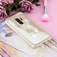 Недорогие Чехлы и кейсы для Galaxy S9 Plus-Кейс для Назначение SSamsung Galaxy S9 Plus / S9 Движущаяся жидкость / Прозрачный / С узором Кейс на заднюю панель Перья Мягкий ТПУ для S9 / S9 Plus / S8 Plus