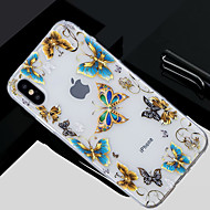 Недорогие Кейсы для iPhone 8 Plus-Кейс для Назначение Apple iPhone X / iPhone 8 Прозрачный / С узором Кейс на заднюю панель Бабочка Мягкий ТПУ для iPhone X / iPhone 8 Pluss / iPhone 8