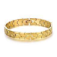 preiswerte Schmuck & Armbanduhren-Herrn Stilvoll Armband / Nugget-Gliederarmband - Kreativ Modisch, Beiläufig / sportlich Armbänder Gold / Silber Für Geburtstag / Geschenk
