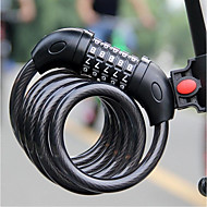 abordables Accesorios para Ciclismo y Bicicleta-Bloquea la bicicleta / Contraseña de Bloqueo Extra largo, Seguridad de bloqueo Ciclismo / Bicicleta Cobre / Acero / ABS Negro - 1 pcs
