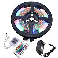 お買い得  -5m フレキシブルLEDライトストリップ / RGBストリップライト 300 LED 3528 SMD RGB カット可能 / 接続可 / ノンテープ・タイプ 12 V 1個