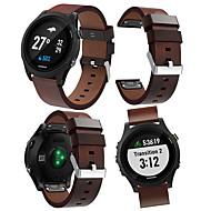 Недорогие Аксессуары для смарт-часов-Ремешок для часов для Forerunner 935 Garmin Кожаный ремешок Кожа Повязка на запястье
