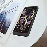 Недорогие Чехлы и кейсы для Galaxy S9-Кейс для Назначение SSamsung Galaxy S9 Plus / S9 Защита от удара / Стразы / С узором Кейс на заднюю панель Цветы Твердый ПК для S9 / S9 Plus / S8 Plus