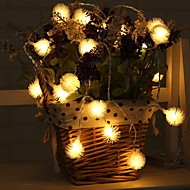 cheap -2.2m String Lights 20 LEDs Warm White Adorable AA Batteries Powered 1pc