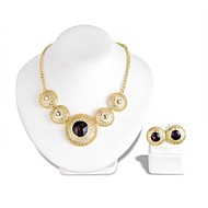 cheap -Women's Purple Crystal Retro Jewelry Set - Vintage Include Vintage Necklace Gold For Party Evening Party