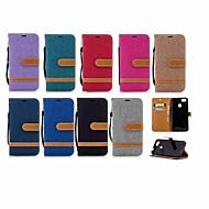 お買い得  携帯電話ケース-ケース 用途 Huawei P20 Pro / P smart ウォレット / カードホルダー / スタンド付き フルボディーケース ソリッド ハード 繊維 のために Huawei P20 / Huawei P20 Pro / Huawei P20 lite / P10 Plus / P10 Lite / P10