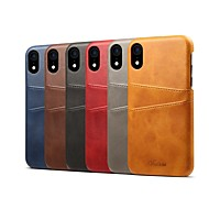 Case For Apple iPhone XS / iPhone XR Card Holder / Shockproof Back Cover Solid Colored Hard PU Leather for iPhone XS / iPhone XR / iPhone XS Max