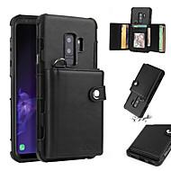 Недорогие Чехлы и кейсы для Galaxy S8-Кейс для Назначение SSamsung Galaxy S9 / S8 Кошелек / Бумажник для карт / Защита от удара Кейс на заднюю панель Однотонный Твердый Кожа PU для S9 / S9 Plus / S8 Plus