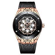 ieftine Bijuterii&Ceasuri-Tevise Bărbați ceas mecanic Japoneză Mecanism automat 30 m Rezistent la Apă Iluminat Cool Piele Autentică Bandă Analog Casual Modă Negru / Maro - Negru și Auriu Maro Auriu