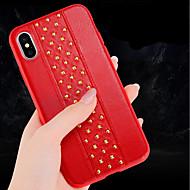 Недорогие Кейсы для iPhone 8 Plus-Кейс для Назначение Apple iPhone X / iPhone 8 Защита от удара / Ультратонкий Кейс на заднюю панель Однотонный Мягкий Кожа PU для iPhone X / iPhone 8 Pluss / iPhone 8