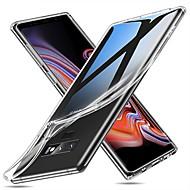 Недорогие Чехлы и кейсы для Galaxy Note-Кейс для Назначение SSamsung Galaxy Note 9 Ультратонкий / Прозрачный Кейс на заднюю панель Однотонный Мягкий ТПУ для Note 9 / Note 8