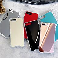 Недорогие Кейсы для iPhone 8-Кейс для Назначение Apple iPhone X / iPhone XS Max Защита от удара / Зеркальная поверхность Кейс на заднюю панель Однотонный Твердый Акрил для iPhone XS / iPhone XR / iPhone XS Max