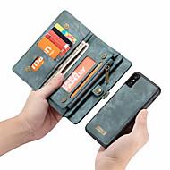 Недорогие Кейсы для iPhone 8-CaseMe Кейс для Назначение Apple iPhone X Кошелек / Бумажник для карт / Флип Чехол Однотонный Твердый Кожа PU для iPhone X / iPhone 8 Pluss / iPhone 8
