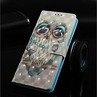Недорогие Чехлы и кейсы для Galaxy Note-Кейс для Назначение SSamsung Galaxy Note 9 / Note 8 Кошелек / Бумажник для карт / со стендом Чехол Сова Твердый Кожа PU для Note 9 / Note 8