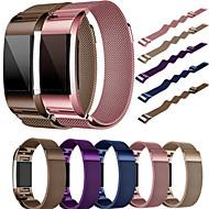 Недорогие Аксессуары для смарт-часов-Ремешок для часов для Fitbit Charge 2 Fitbit Миланский ремешок Металл / Нержавеющая сталь Повязка на запястье