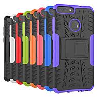お買い得  携帯電話ケース-ケース 用途 Huawei P20 Pro / P20 lite 耐衝撃 / スタンド付き バックカバー タイル柄 / 鎧 ハード PC のために Huawei P20 / Huawei P20 Pro / Huawei P20 lite / P10 Plus / P10 Lite / P10